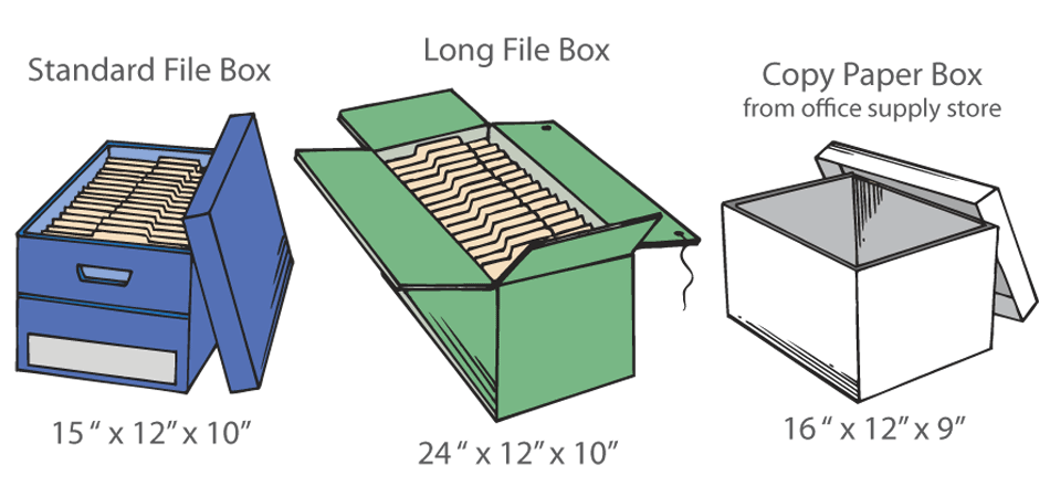 Purge file box sizes